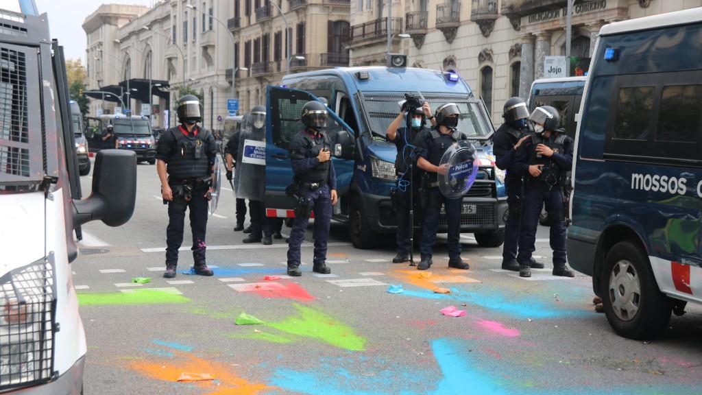Pols colors Mossos protesta CDR