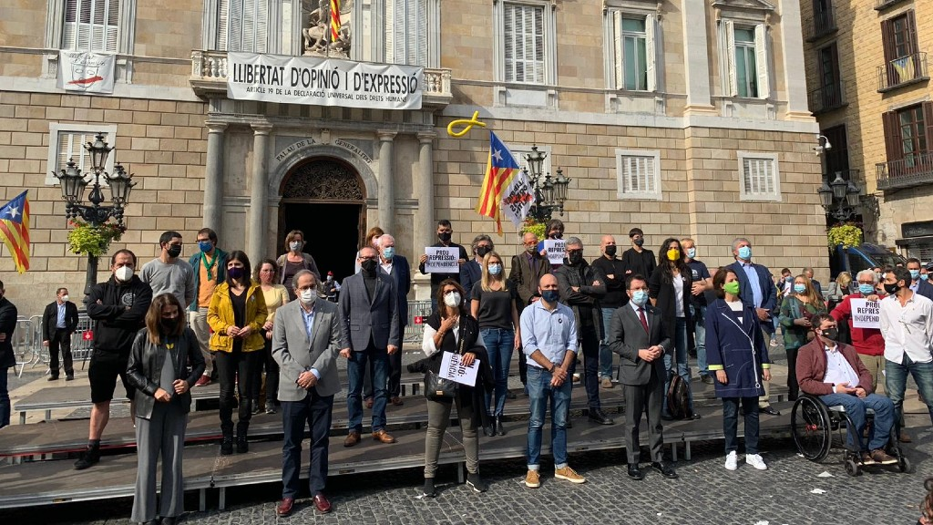 Protesta Sant Jaume detencions Guàrdia Civil