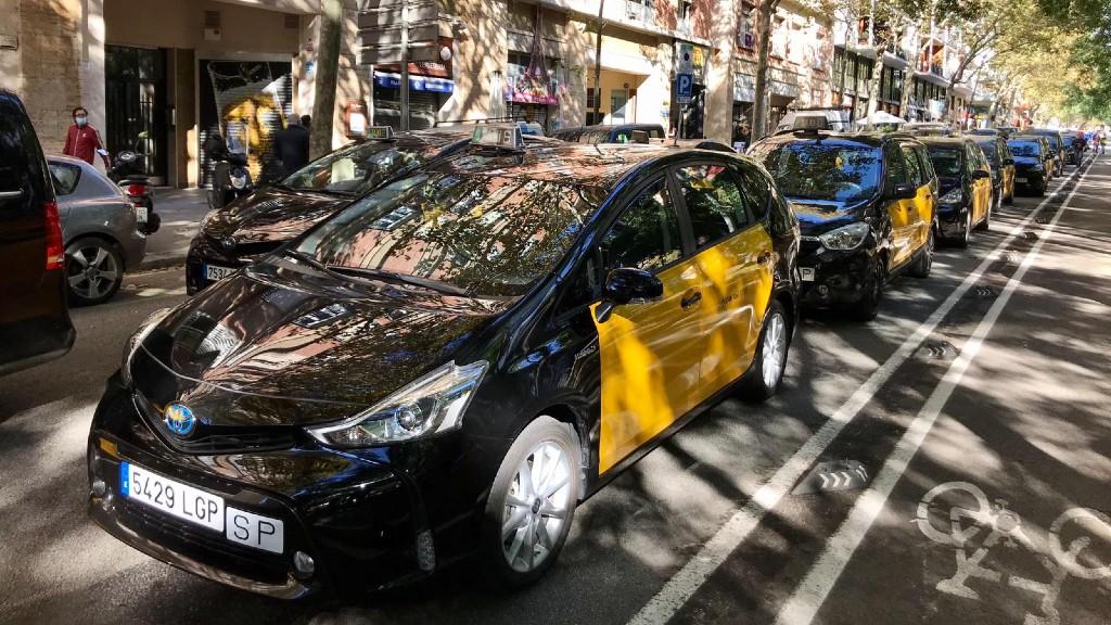 protesta taxis carrer