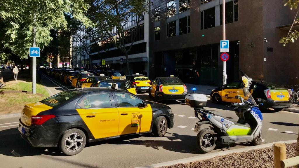 protesta taxis conselleria Territori