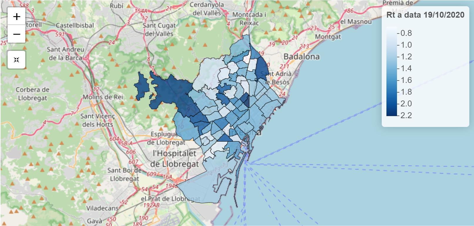 gràfic taxa contagi barris