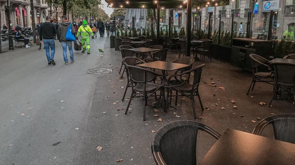 terrassa buida a rambla de Catalunya