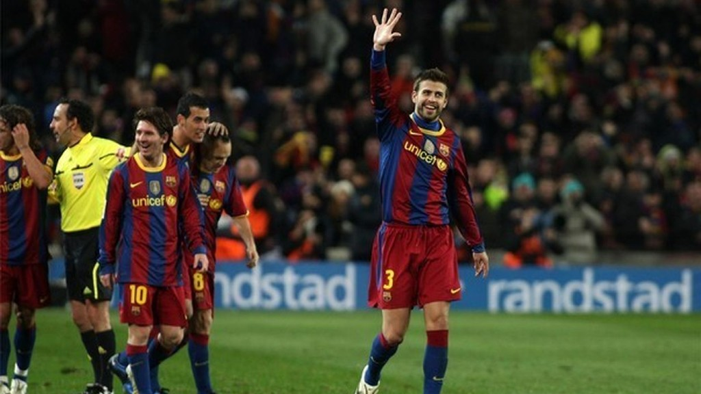 Barça Madrid 2010 maneta piqué