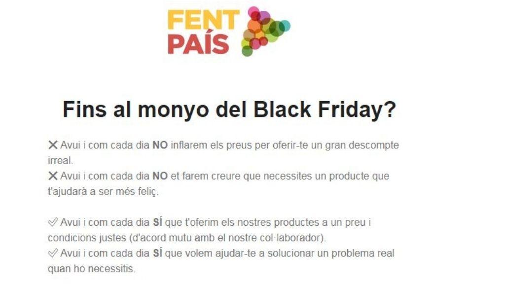 boicot Black Friday Fent País