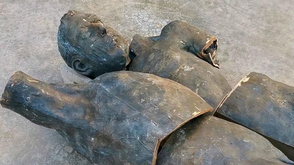 Escultura de bronze de Juan Bordes recuperada pels Mossos d'Esquadra