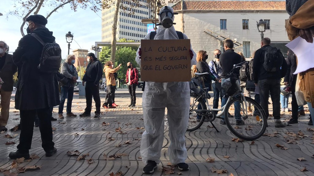 Manifestació sector cultural