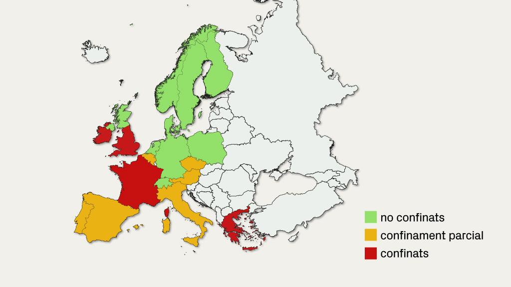Mapa d'Europa amb les mesures