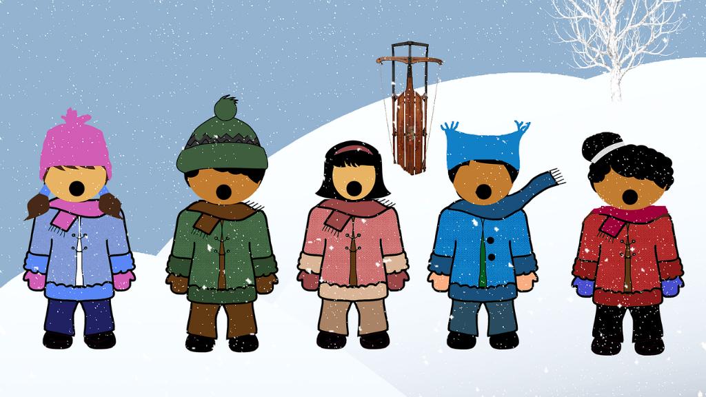 nens cantant cançons de nadal