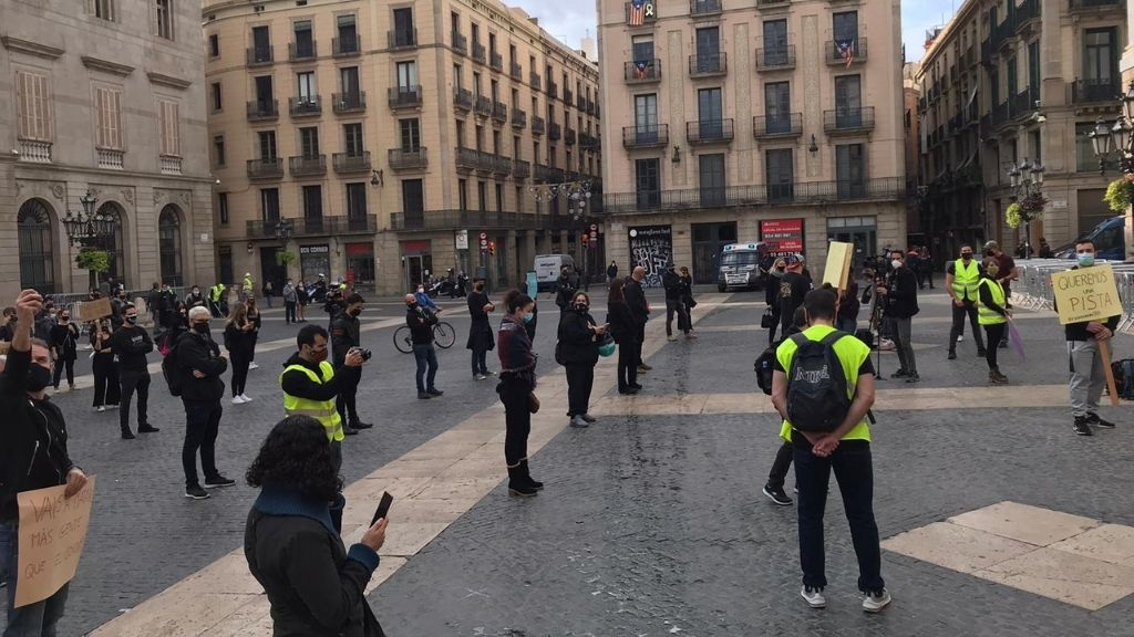 protesta escape room plaça sant jaume