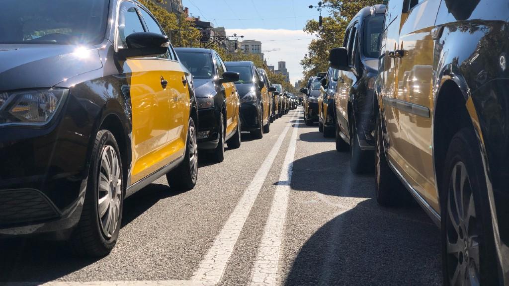Taxi protestes