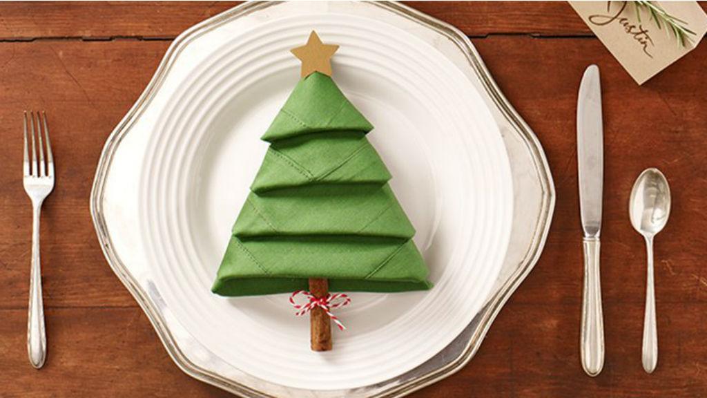 plegar tovallons per nadal