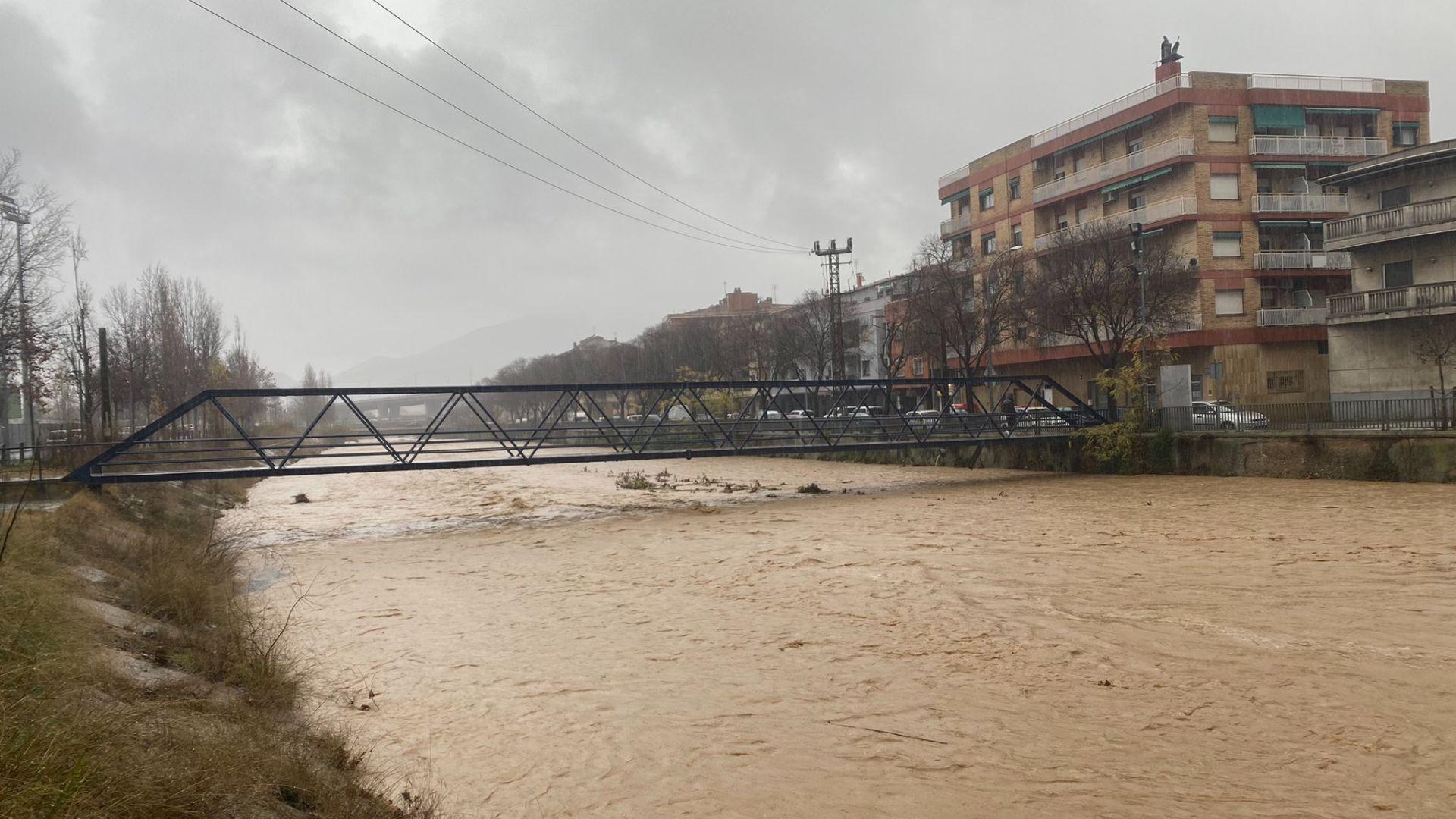 Crescuda dels rius vallesans a causa de les fortes pluges