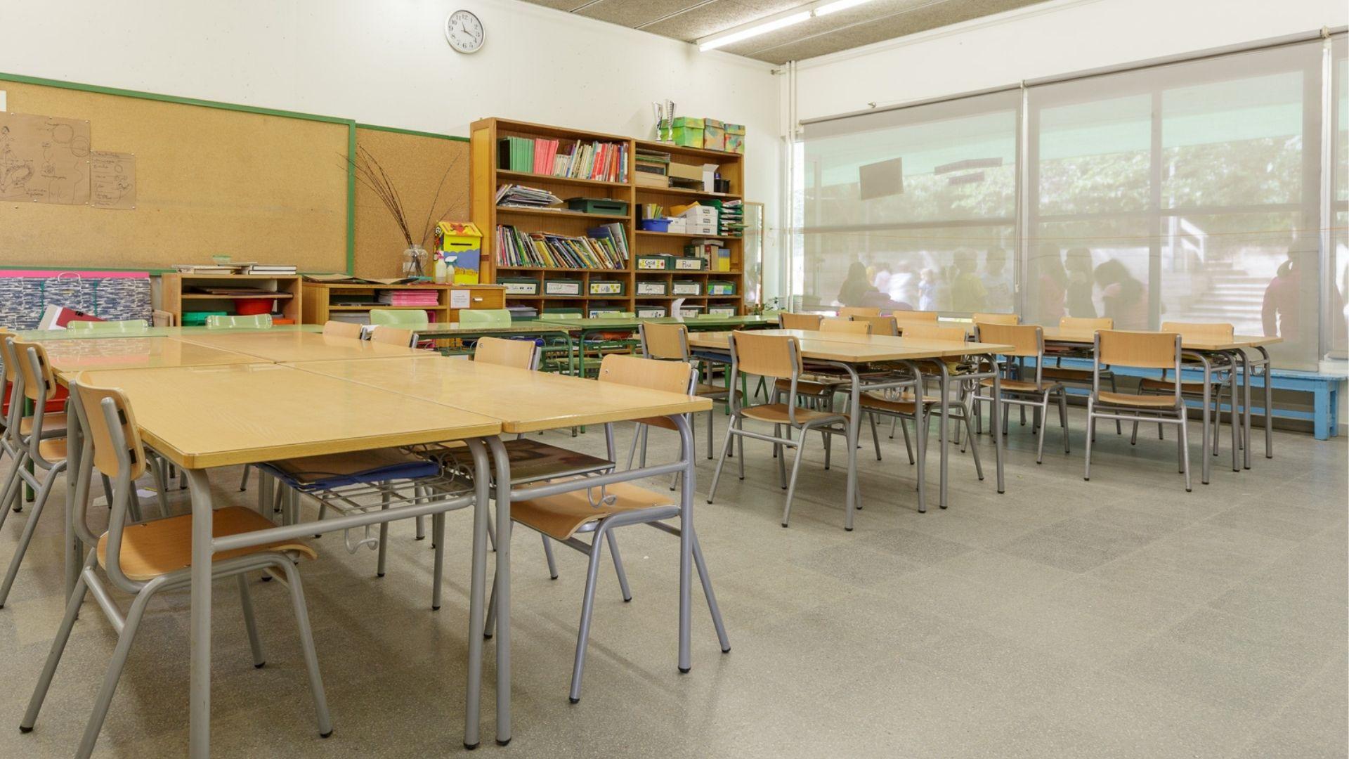 escola, classe buida