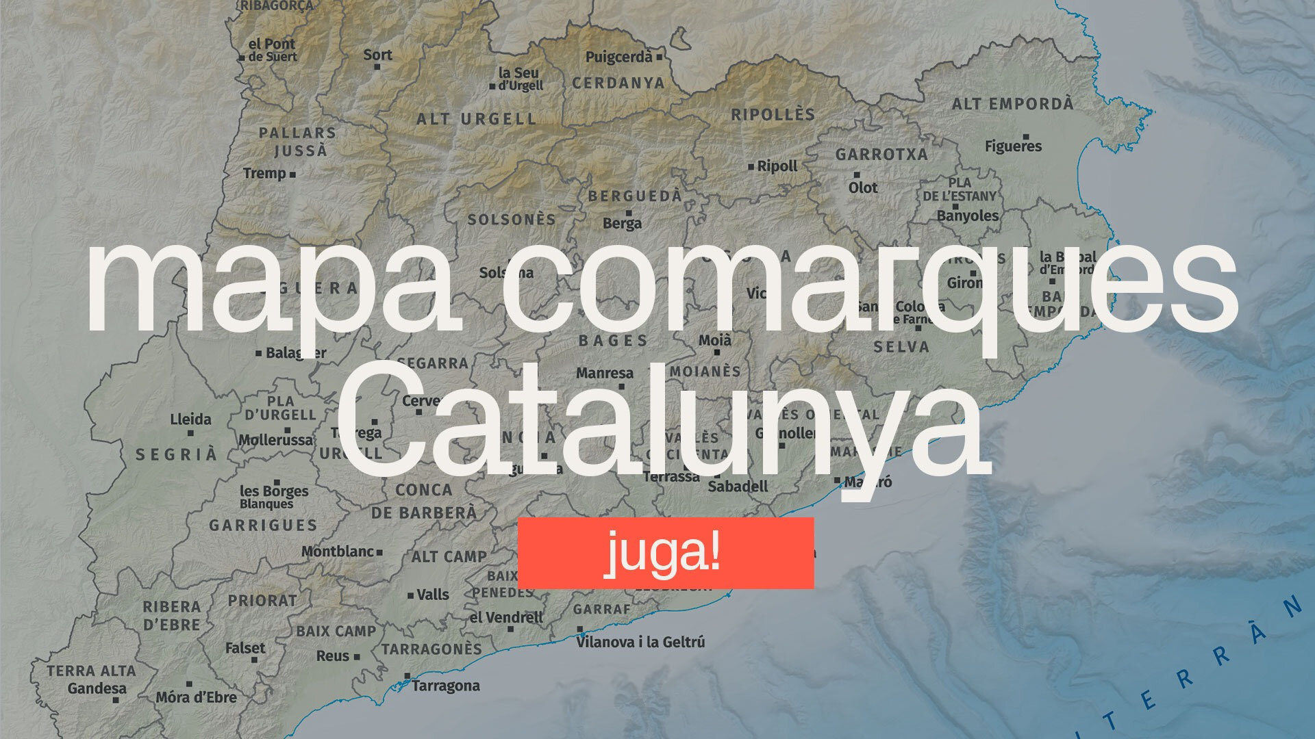 joc comarques catalunya mapa