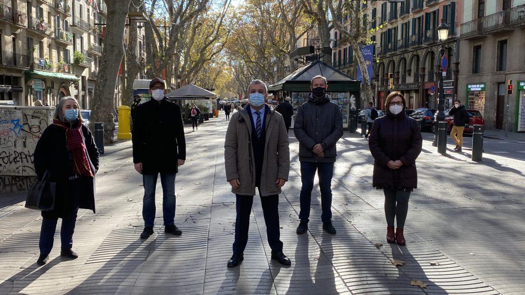 """Presentació de la campanya """"Baixa a la Rambla"""""""