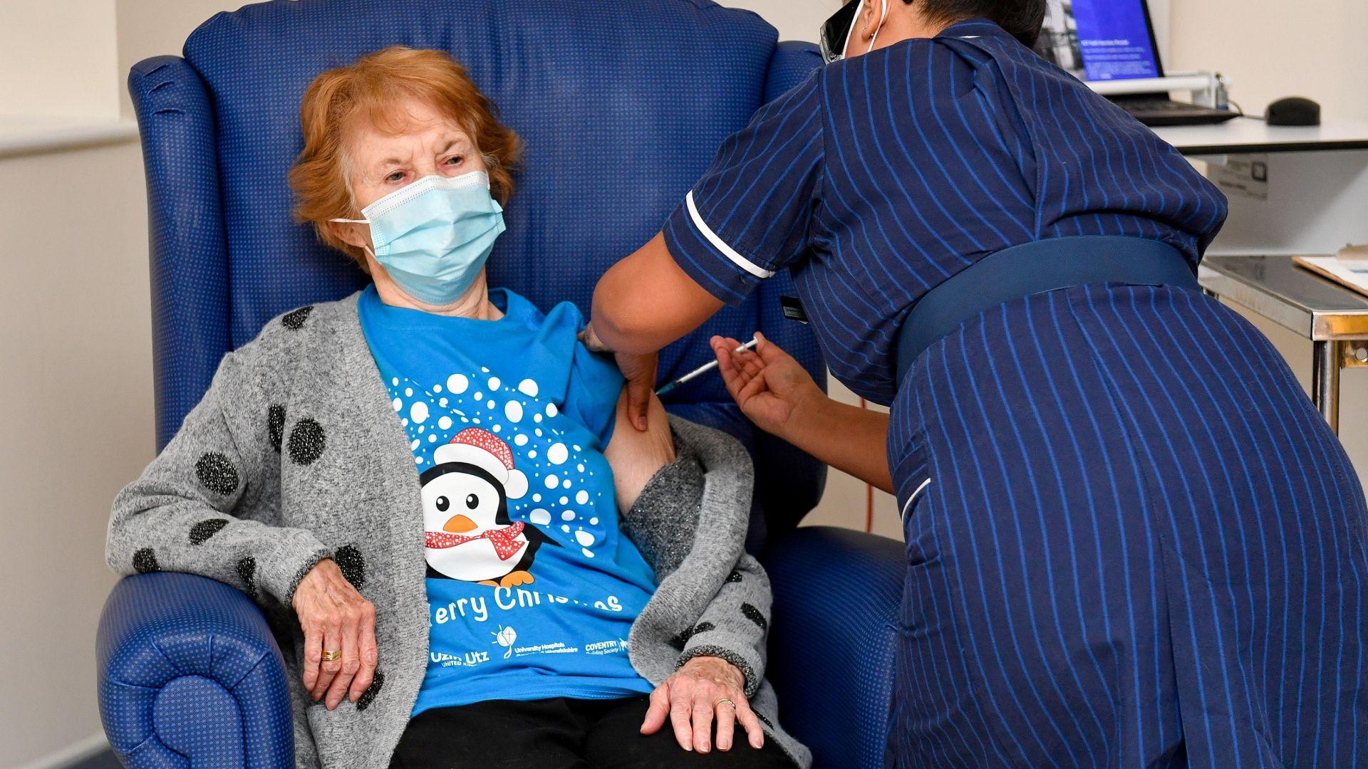 Primera dona vacunada Covid Regne Unit