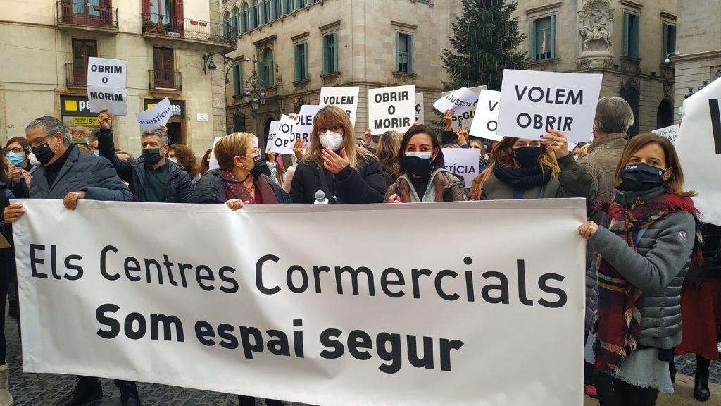 protesta botigues centres comercials