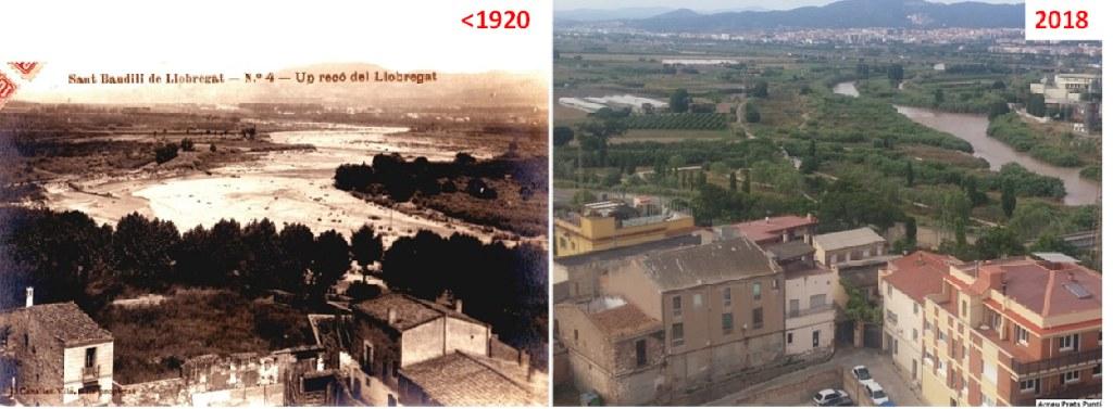 Imatges fetes des del campanar de l'església de Sant Boi. Font: Arxiu Nacional de Catalunya i A. Prats Puntí