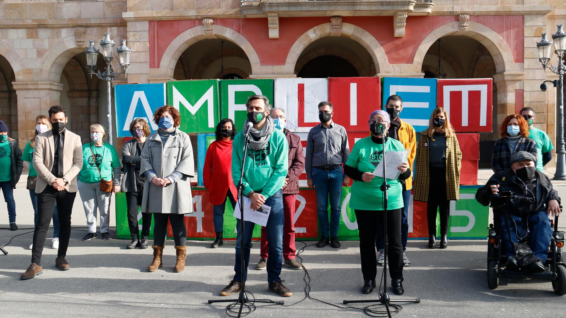 Acte reivindicatiu davant el Parlament