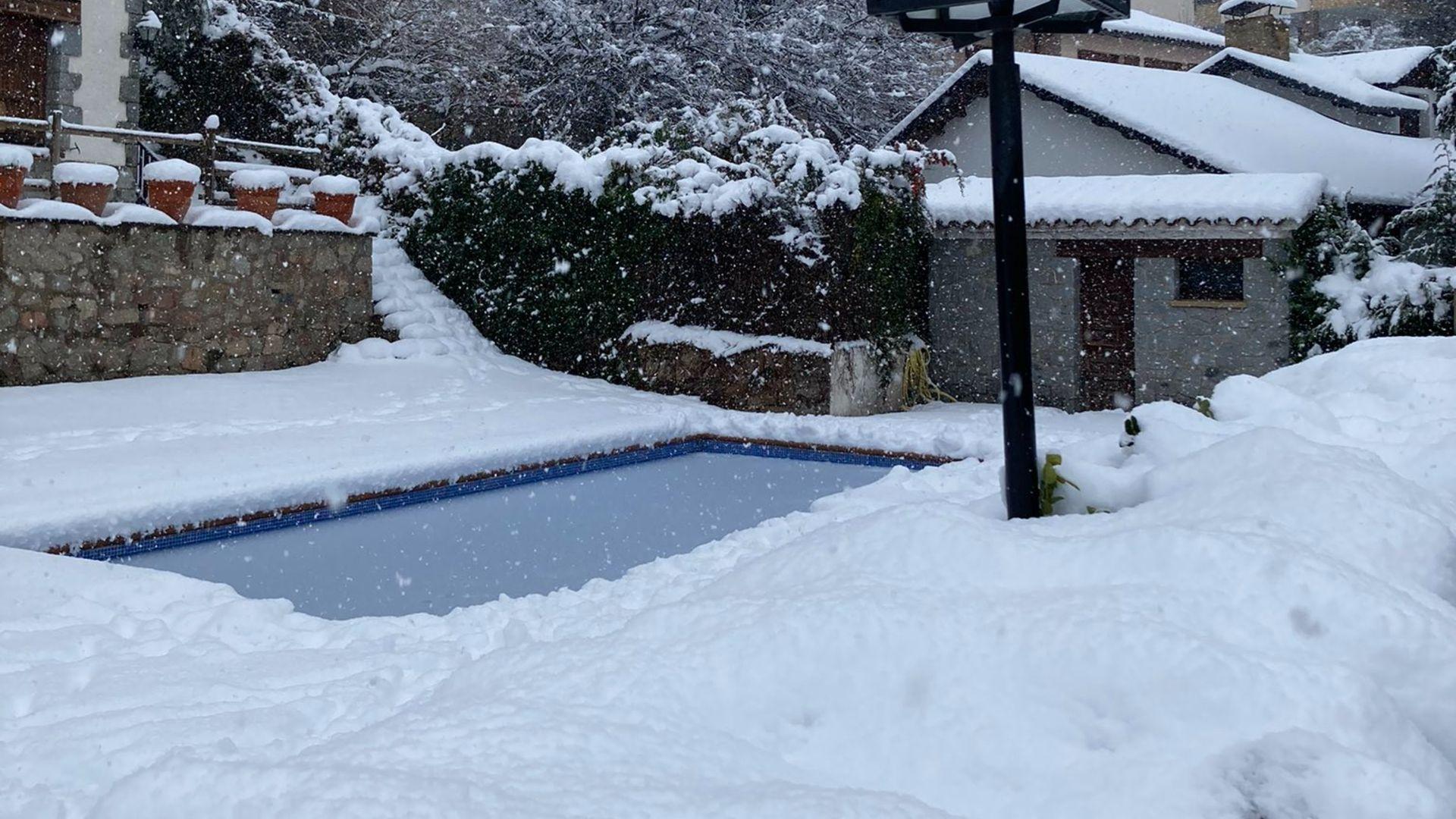 jardí colgat per la neu