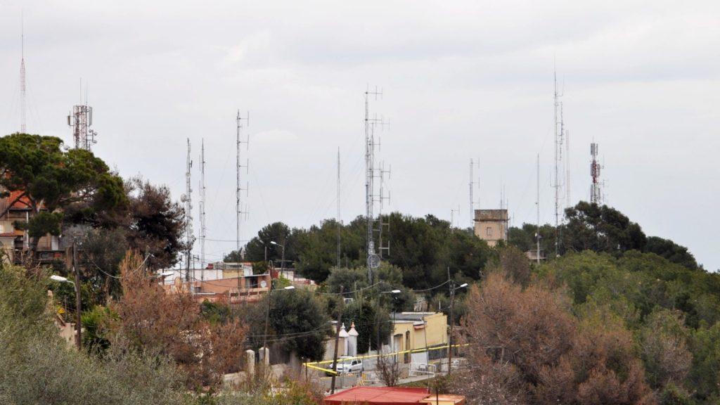 Antenes il·legals al Carmel