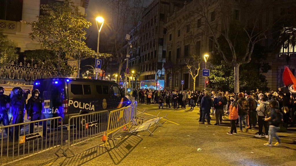 Protesta per demanar la llibertat de Pablo Hasél