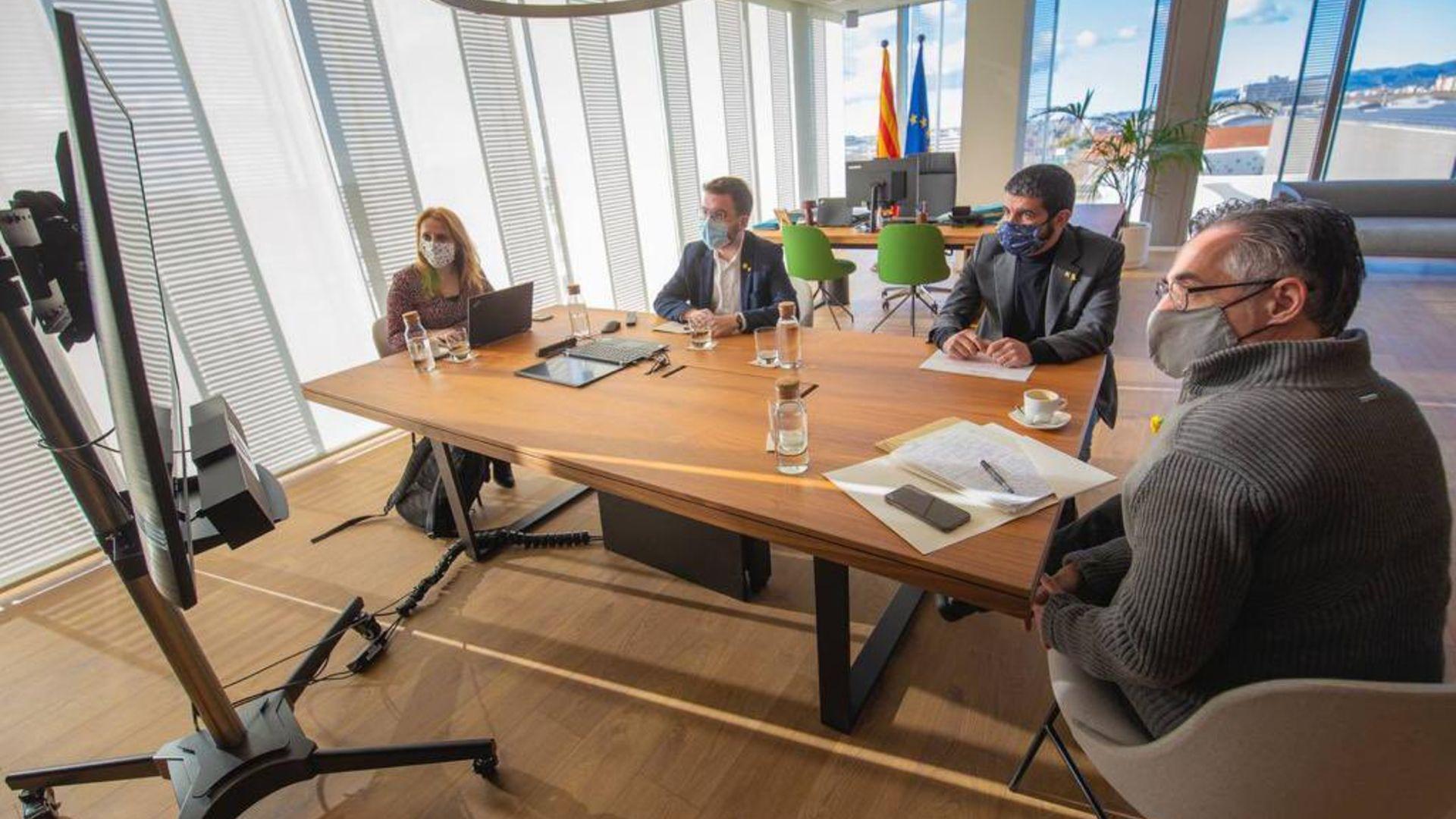 Reunió dels membres del govern català