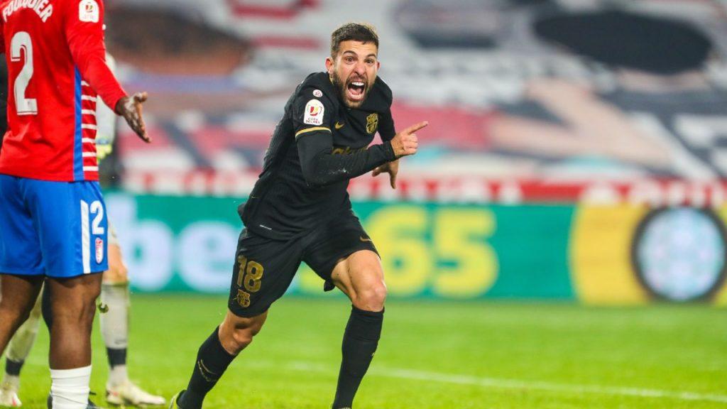 Jordi Alba celebra gol