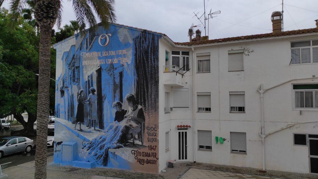 Mural Roc Blackblock Sant Carles de la Ràpita