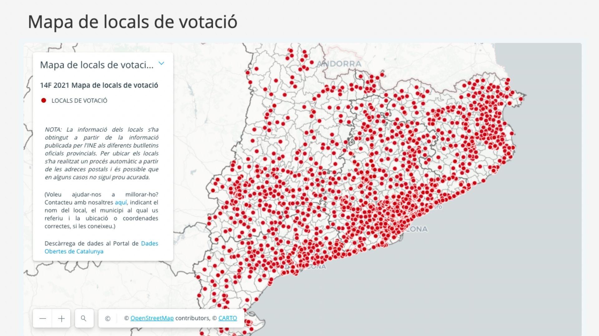 on em toca votar 14f eleccions catalunya mapa col·legis electorals