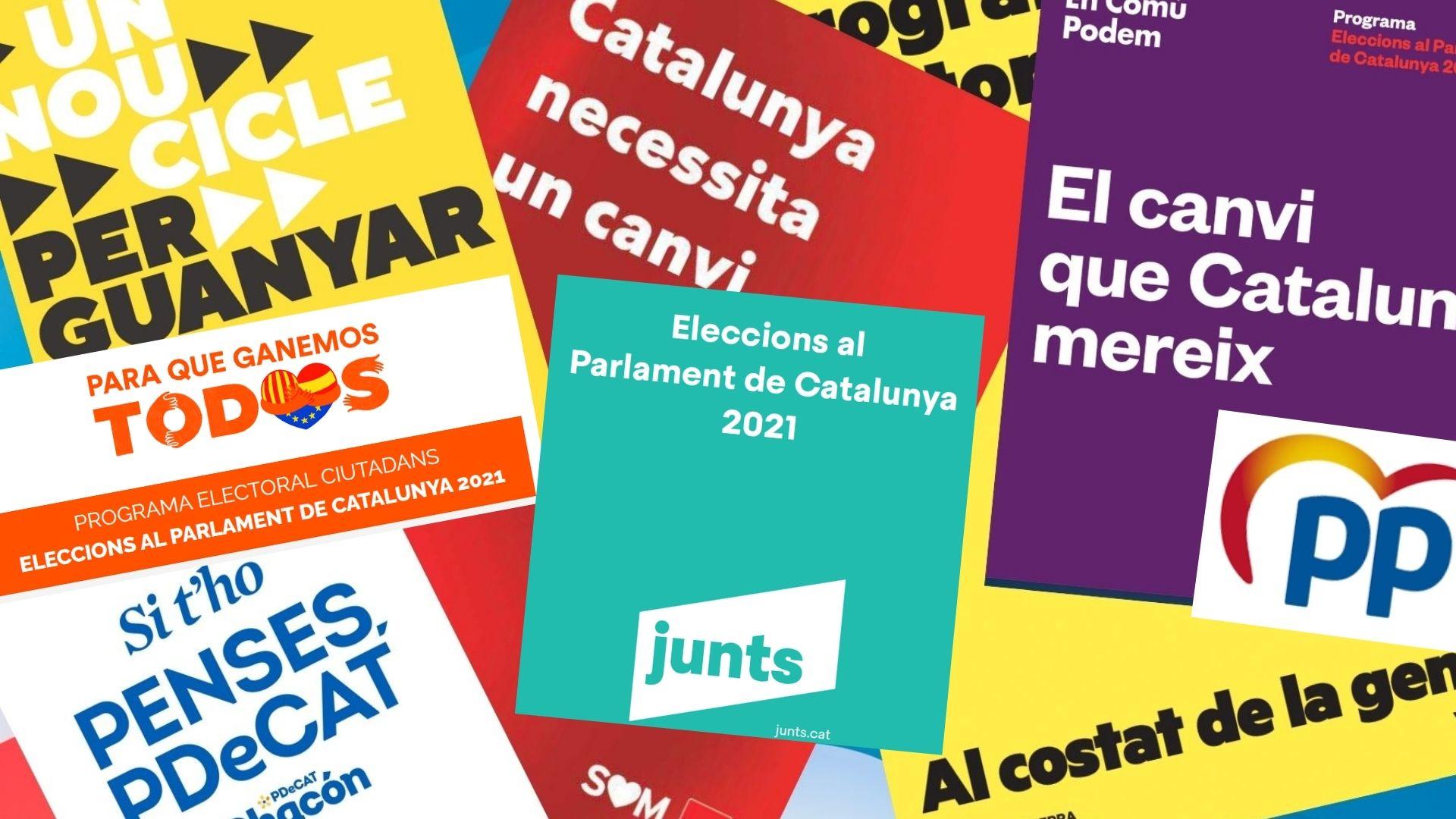 programes electorals 2021 a Catalunya en pdf