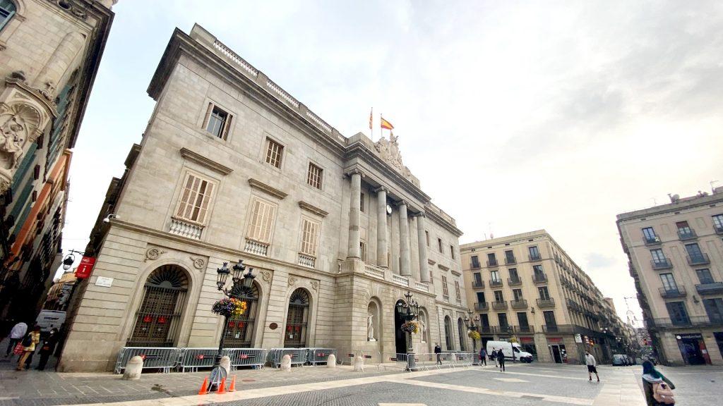 façana ajuntament de barcelona