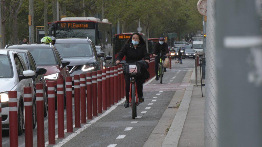 Carril bici del carrer de la Diputació