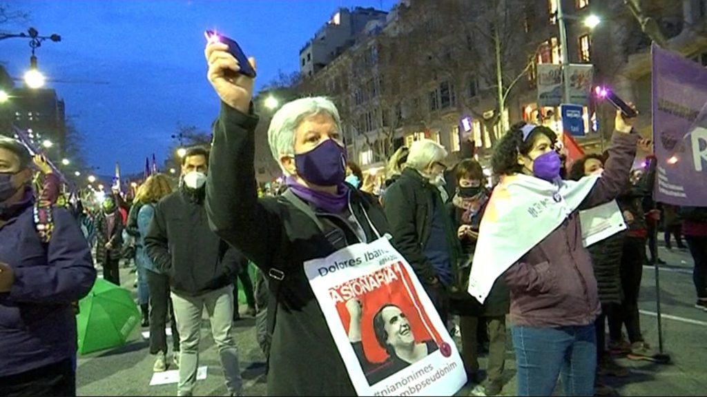 manifestació 8 de març passeig de gràcia