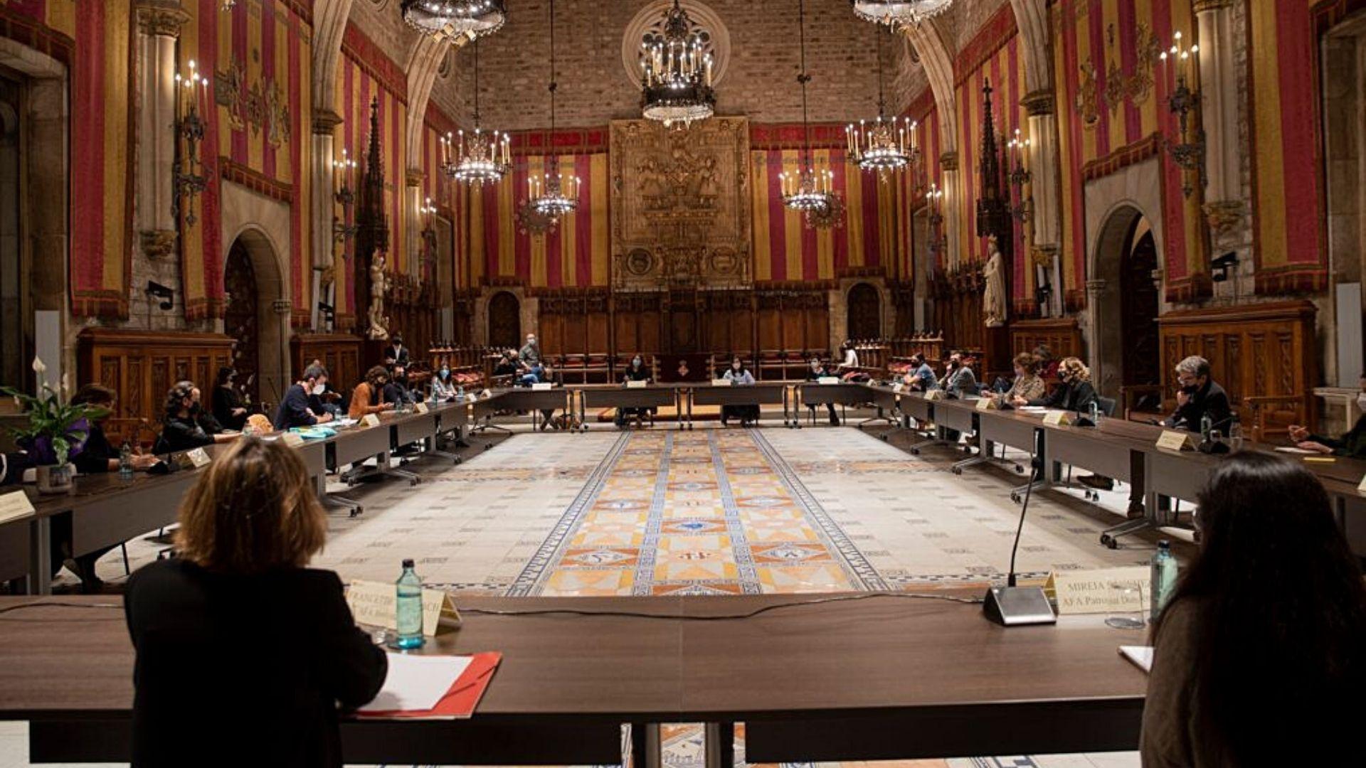 Reunió Revolta Escolar Ajuntament Barcelona