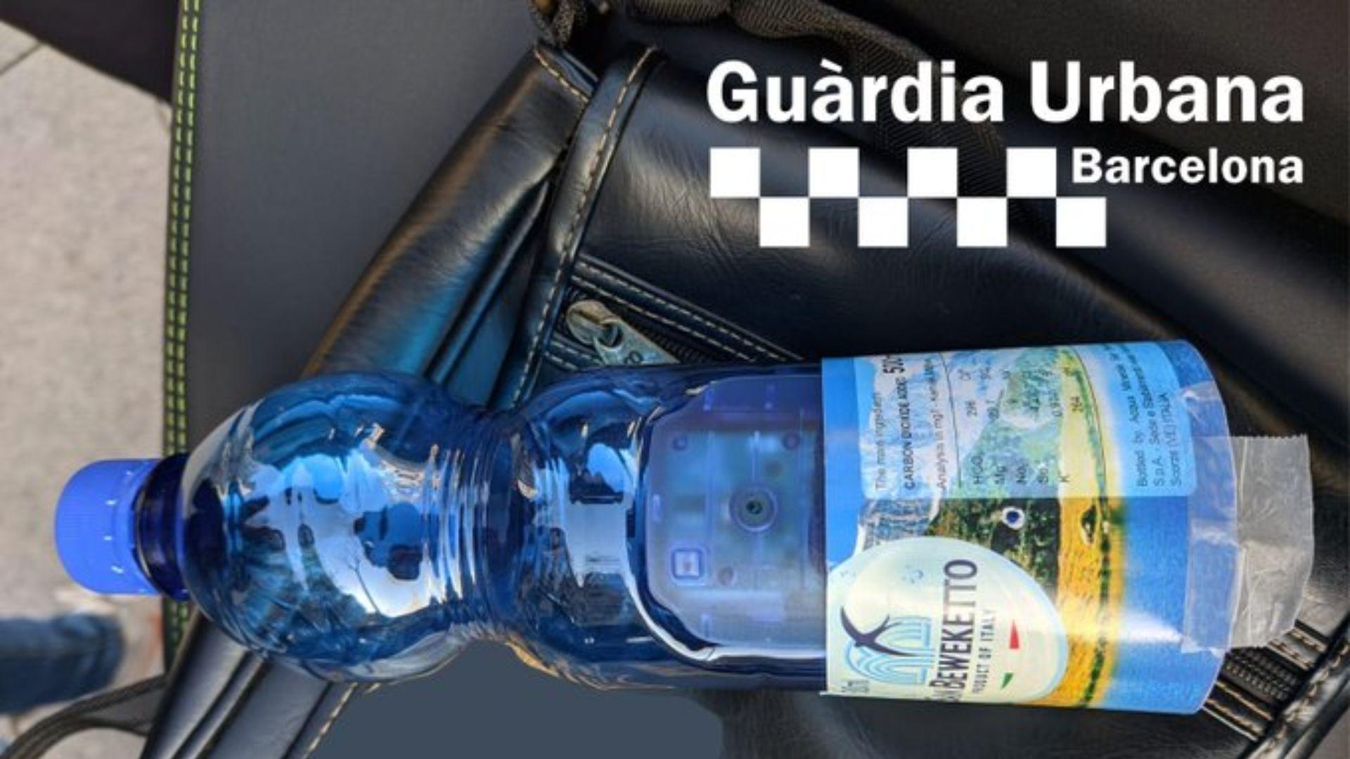 Càmera oculta en una ampolla d'aigua
