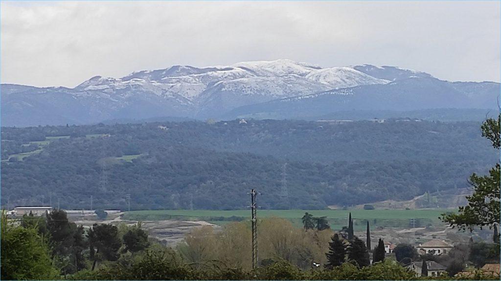 Montseny nevat des de Centelles.