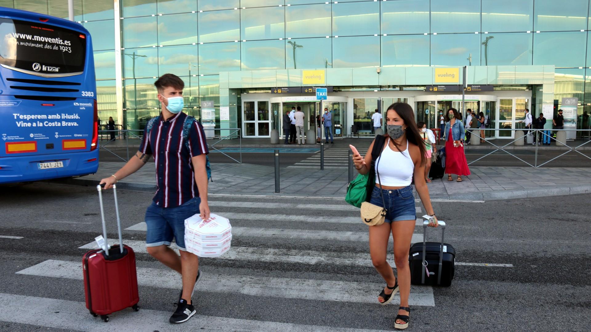 Passatgers a l'Aeroport del Prat