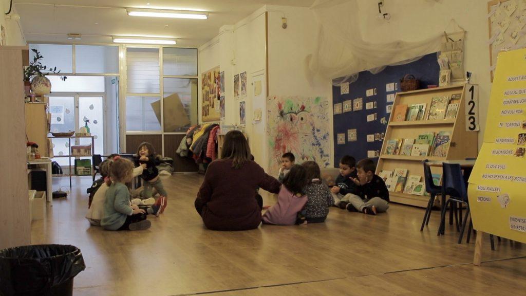 grup Educació Infantil Escola Nou Patufet fent educació emocional