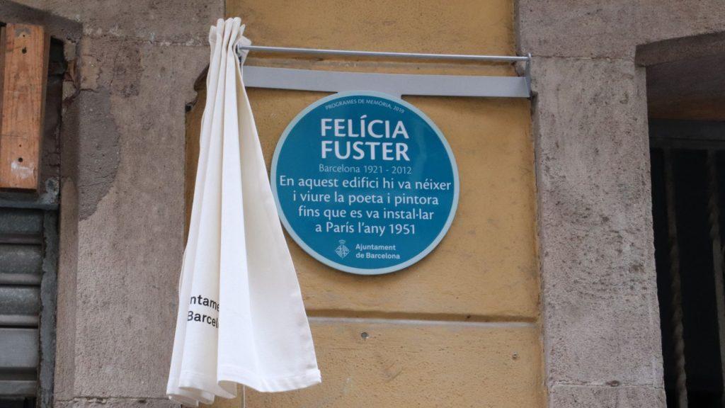 placa homenatge Felícia Fuster