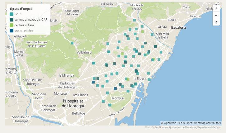 mapa punts vacunació