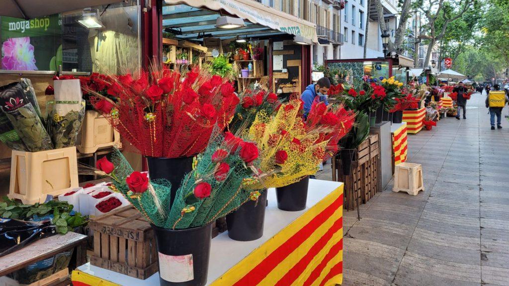 parades roses Sant Jordi