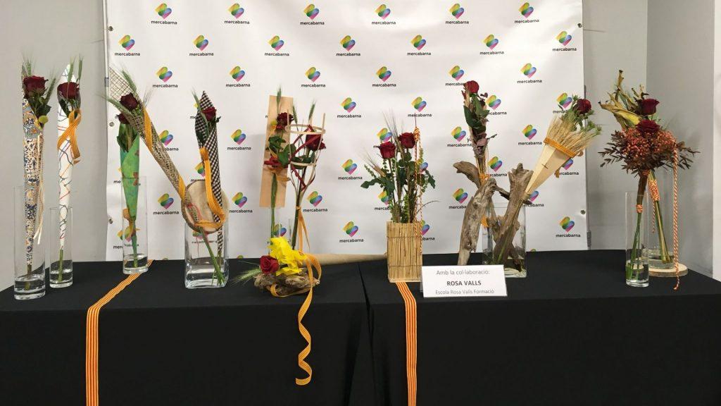 presentació roses Sant Jordi 2021 mercabarna