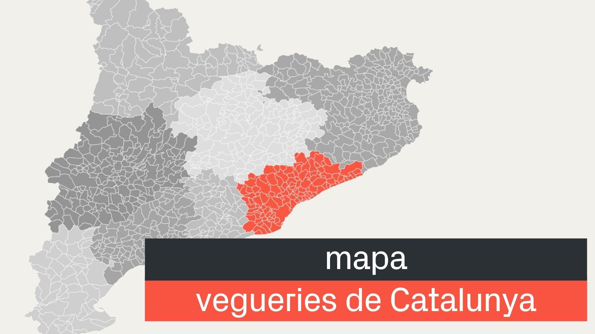 mapa de vegueries de Catalunya