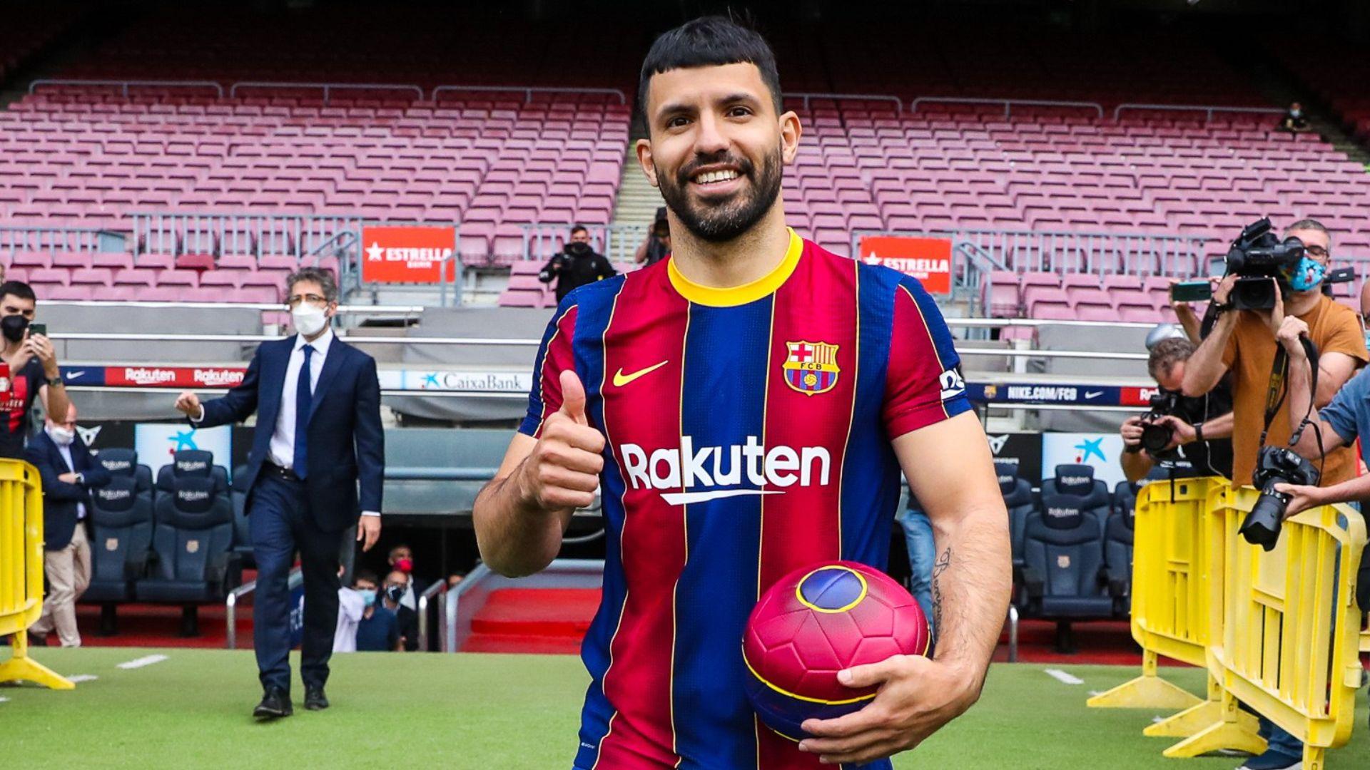 Kun Agüero amb la samarreta del Barça