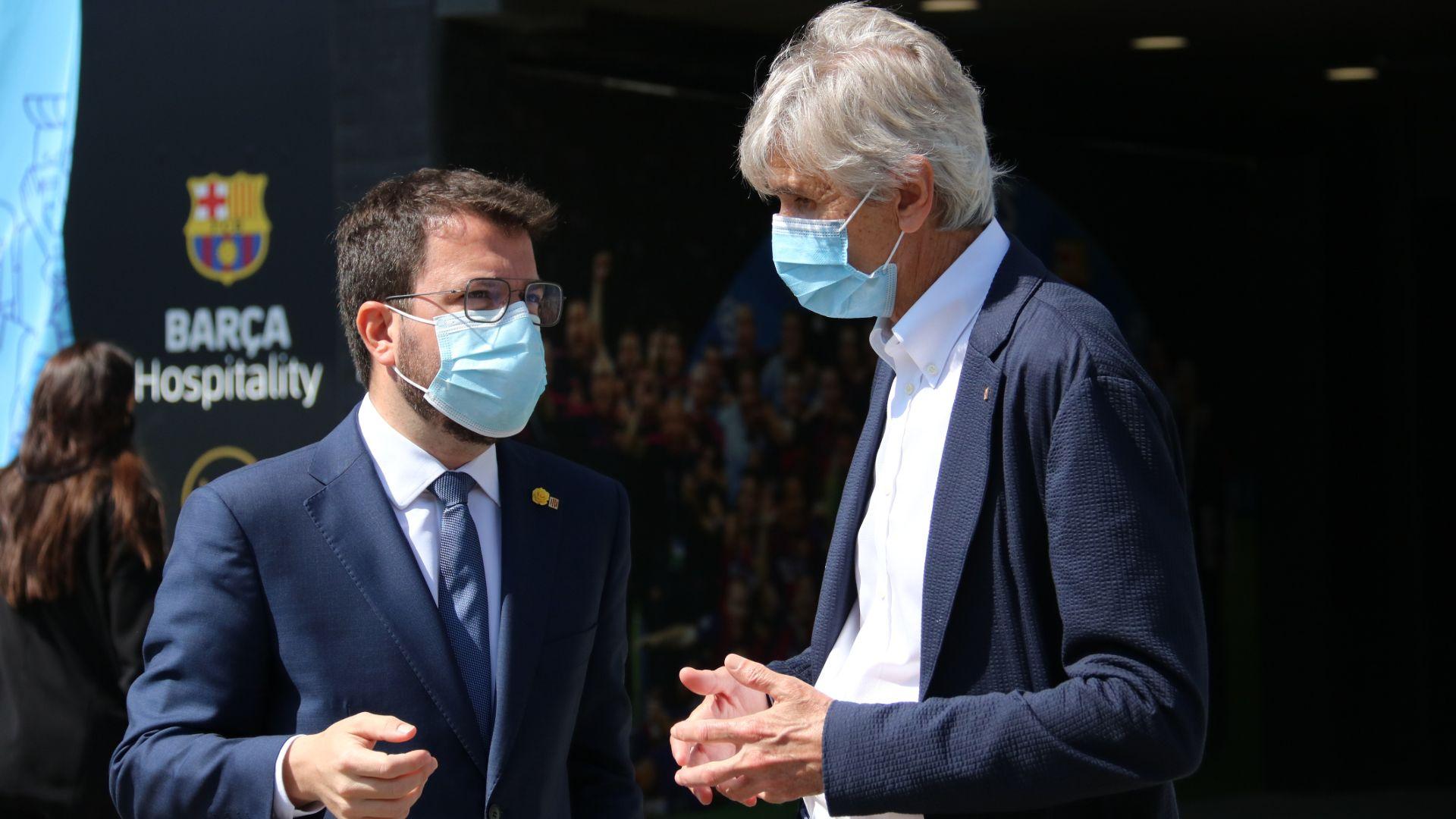 Aragonès i Argimon al Camp Nou