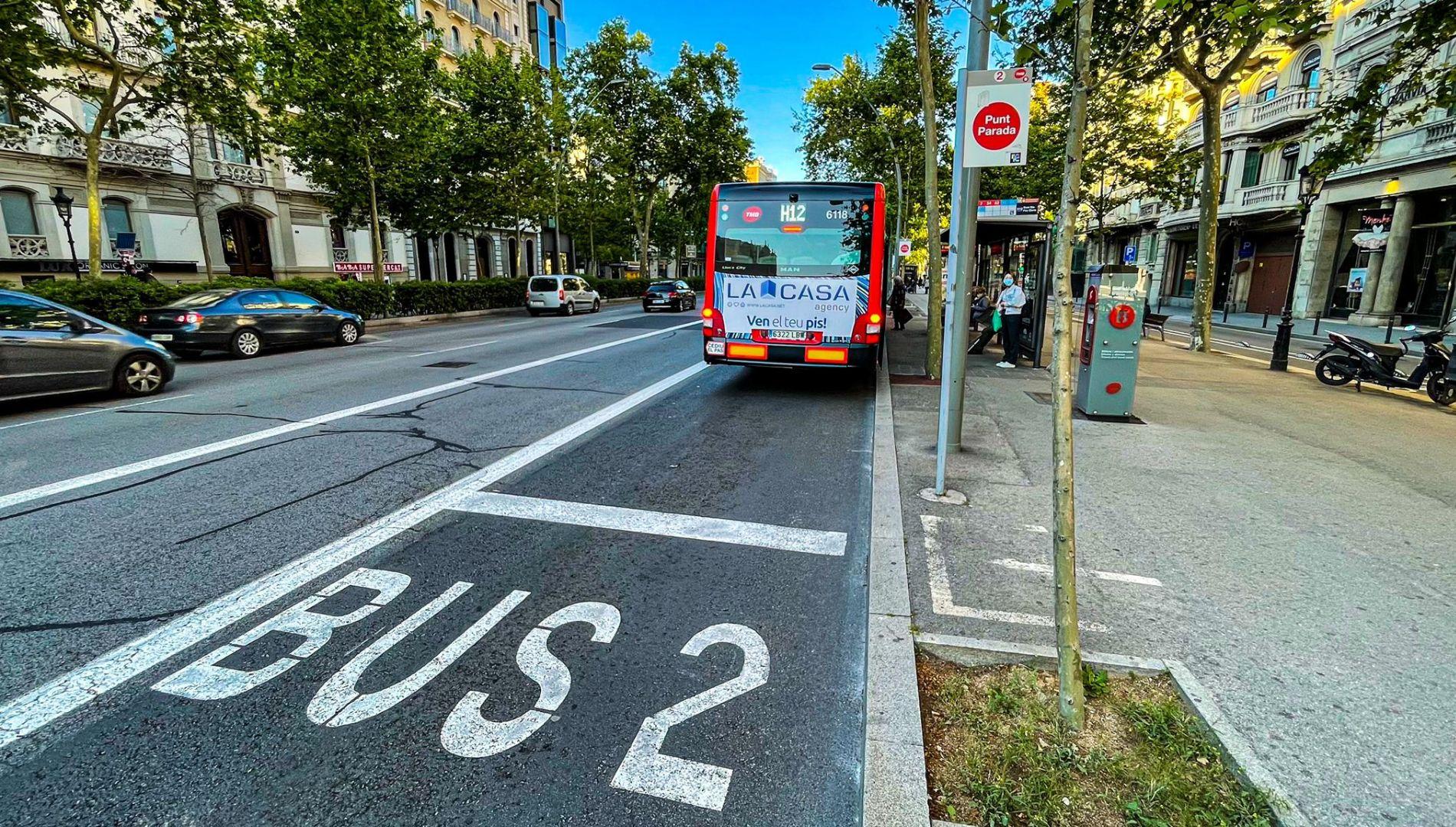 Carril bus a la Gran Via