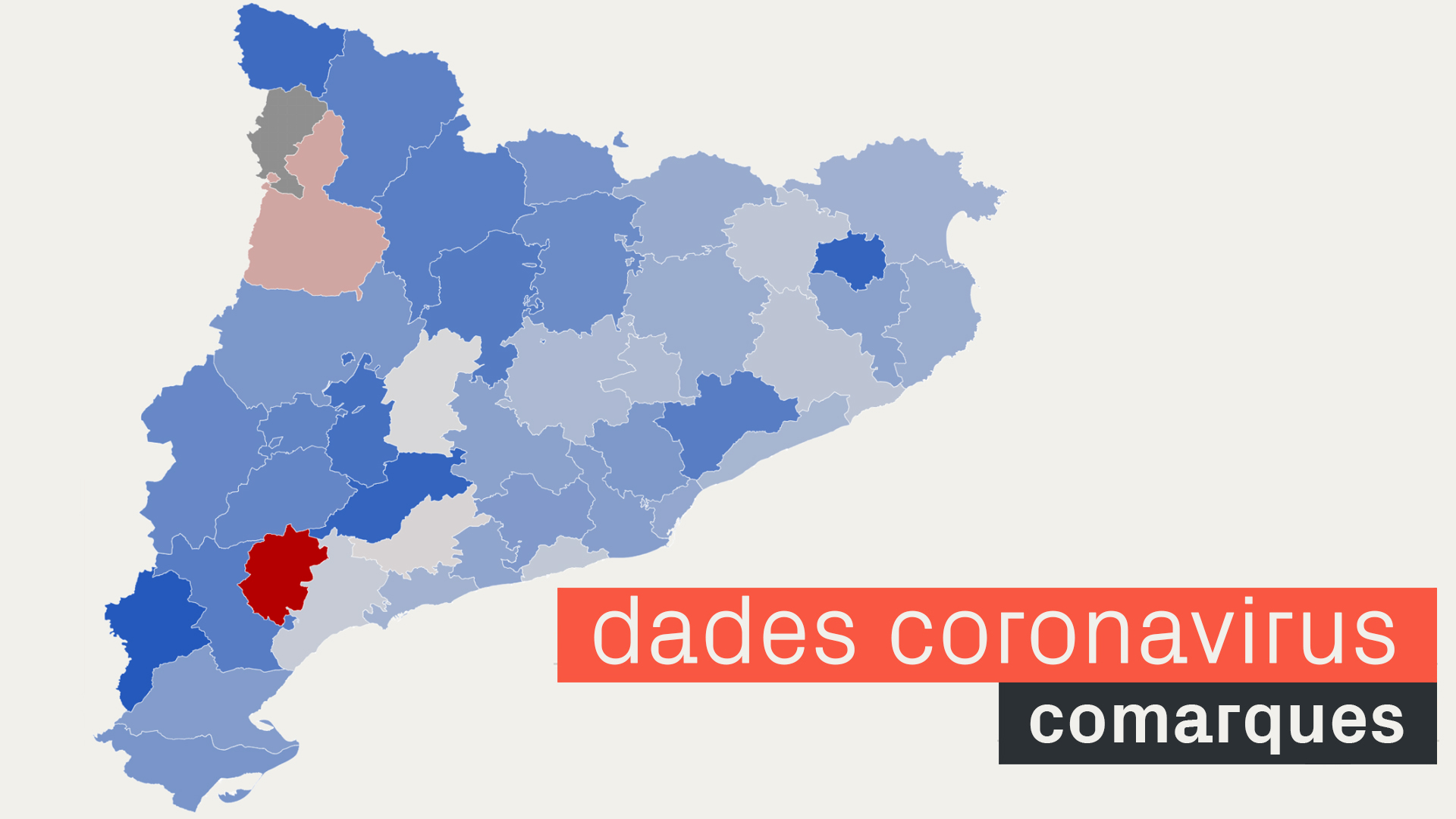 variació de la incidència de covid-19 a les comarques de Catalunya
