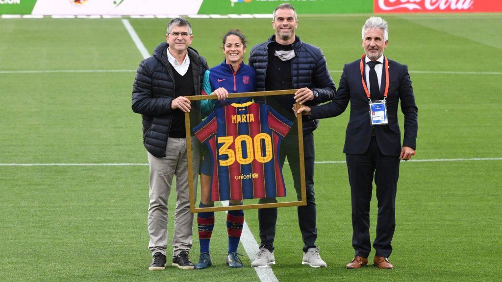 Marta Torrejon supera els 300 partits amb el Barça