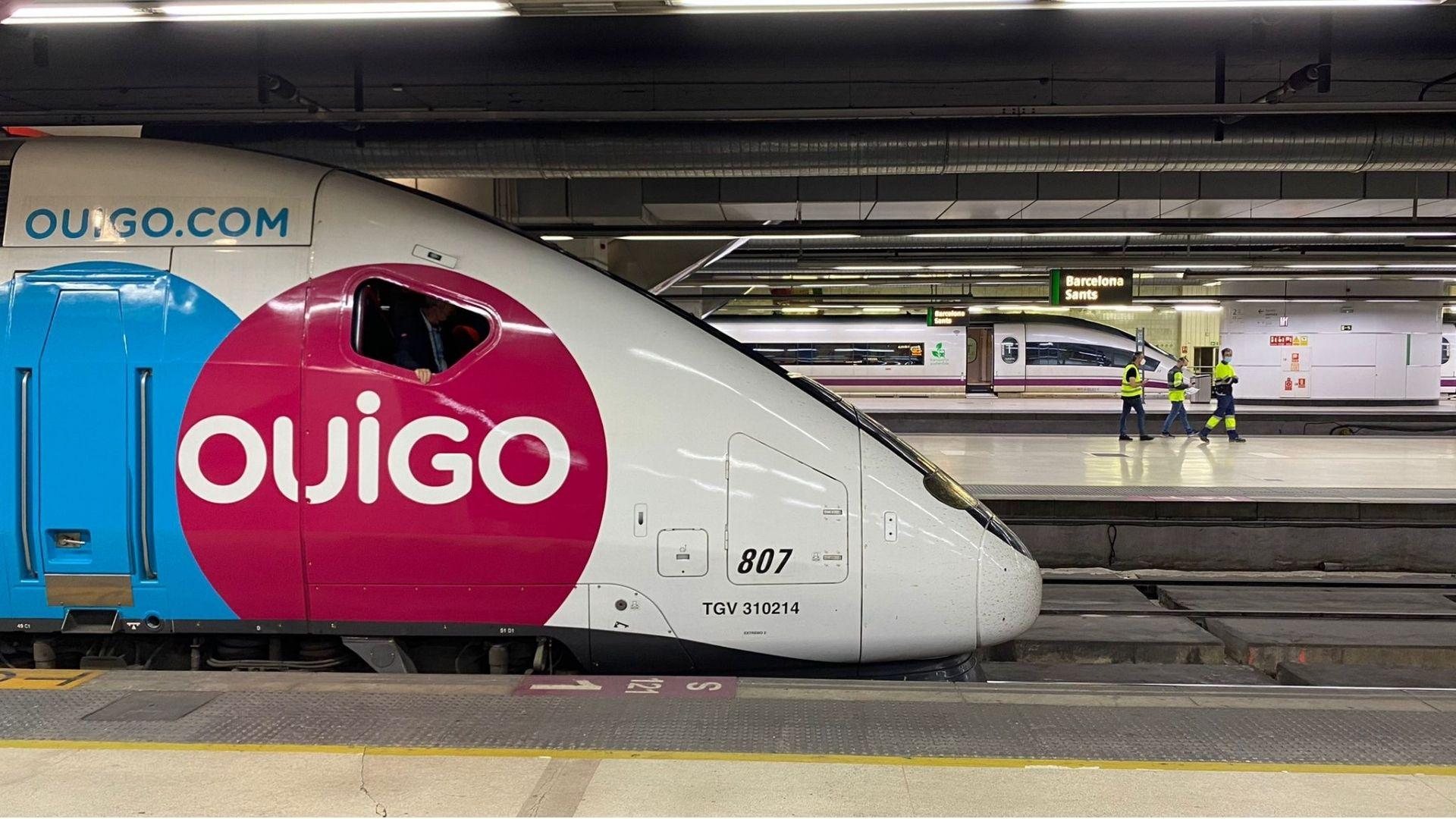 Tren d'alta velocitat Ouigo a Sants